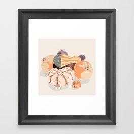 Fall fruits composition Framed Art Print