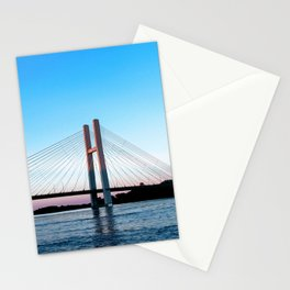 Mississippi River at Burlington, Iowa at Sunset Stationery Cards