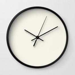 Pastel Ecru White Macaroon Wall Clock
