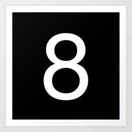 Number 8 Art Print