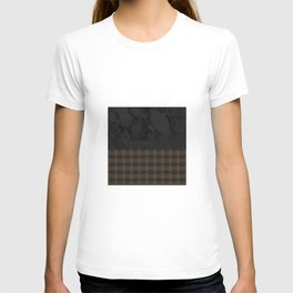 Black Marble with Bronze DecalPattern T-shirt