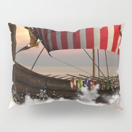 The  viking longship Pillow Sham