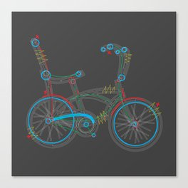 Aztec Bicycle Canvas Print