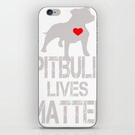 Pitbull Lives Matter funny iPhone Skin