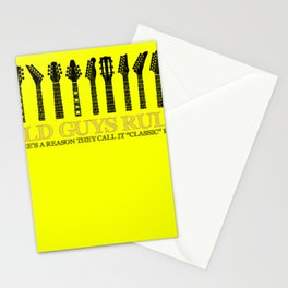 Old Guys Rule Rock - Rock and Roll Stationery Cards