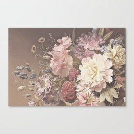 Pastel Bouquet with Peonies Canvas Print