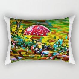 Toadstool Fiesta | painting Rectangular Pillow