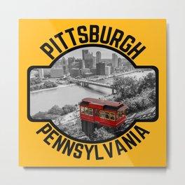 Pittsburgh Steel City Skyline Incline Mount Washington View 412 Print Metal Print