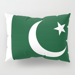 The National Flag of Pakistan - Authentic Version Pillow Sham