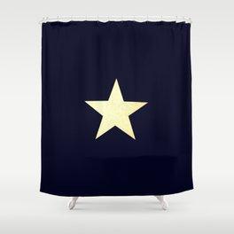 Star  Gold  Black Shower Curtain