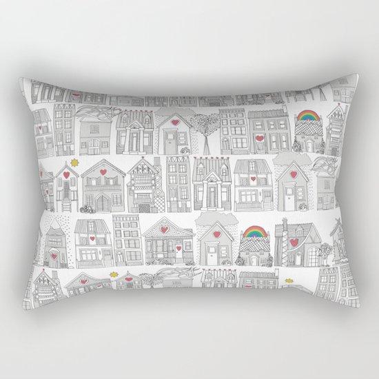 pencil weather love Rectangular Pillow
