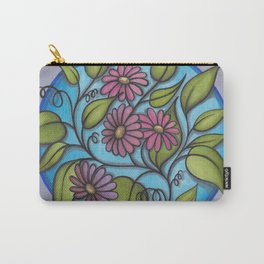 Four Fun Flowers Carry-All Pouch
