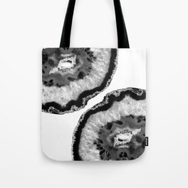 Gray Black White Agate Finesse #1 #gem #decor #art #society6 Tote Bag