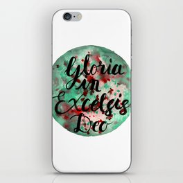 """Hand Painted Watercolor """"Gloria in Excelsis Deo"""" iPhone Skin"""