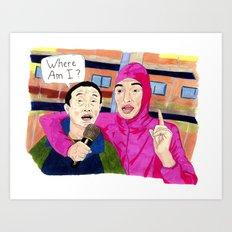 Papa Franku Art Print