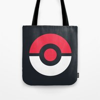 pokeball Tote Bags featuring Pokeball by brane