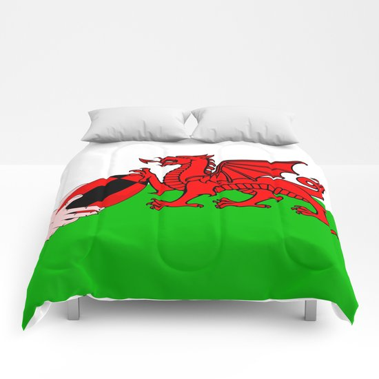 Wales Rugby Flag Comforters