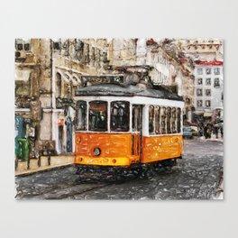 Tram in Lisbon II Canvas Print