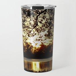 Kansas Golden Sunset Reflection Travel Mug