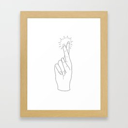 Fingers Crossed Framed Art Print