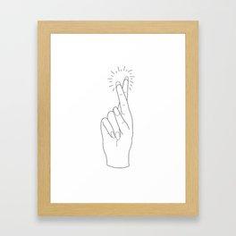 Fingers Crossed Framed Art Print