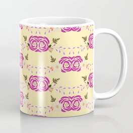 Modern Flower Pattern Art Coffee Mug