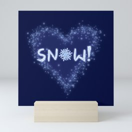 Snow Love Mini Art Print