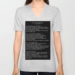 The Four Agreements #minimalist 2 Unisex V-Neck