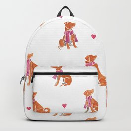 Watercolour dogs - orange theme Backpack