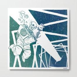High-Concept Interstellar Journey Metal Print