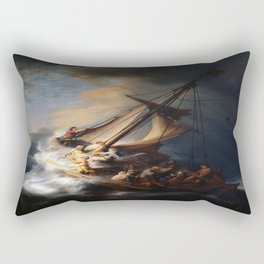 Rembrandt's The Storm on the Sea of Galilee Rectangular Pillow