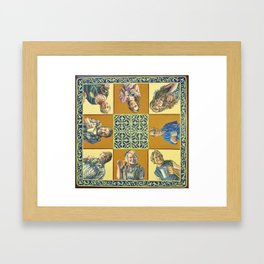 A One On One Conversation Framed Art Print