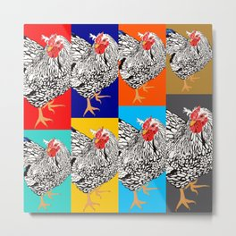 Chickens Metal Print