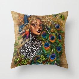 Jungle Queen Throw Pillow