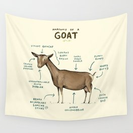 Anatomy of a Goat Wall Tapestry