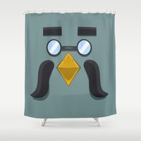 animal crossing Shower Curtains featuring Animal Crossing Brewster by ZiggyPasta