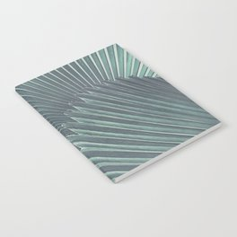 Tropical Palm Leaf Matte Teal Notebook