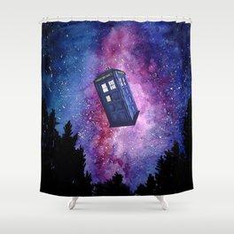 Tardis Starry Night Shower Curtain