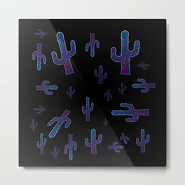 Cactus boys at night Metal Print
