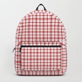 Red tartan plaid pattern Backpack