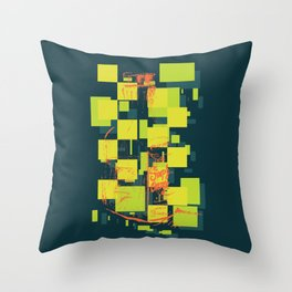 Color Orange Juice Illustration Throw Pillow
