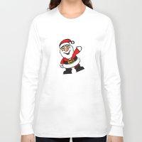 santa Long Sleeve T-shirts featuring Santa by David Casciani