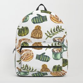 Watercolor Winter Objects Backpack