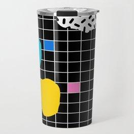 Couch Potato - memphis retro grid minimal trendy 80s throwback retro vibes 1980's style Travel Mug