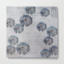 blue daisies par avion Metal Print