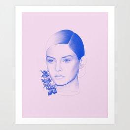 Troubled Art Print