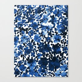 Sophia Floral Blue Canvas Print