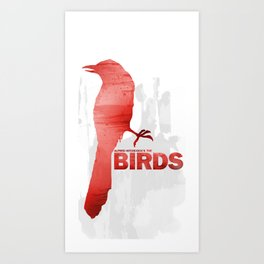 Alfred Hitchcock's The Birds Art Print