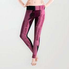 Dark rose and feathers Leggings