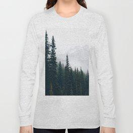 Evergreens in the fog Long Sleeve T-shirt